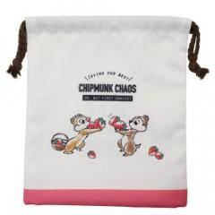 Japan Disney Drawstring Bag - Chip & Dale / Chipmunk Chaos