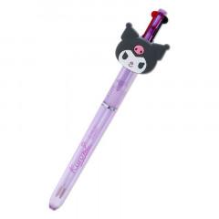 Japan Sanrio 2 Color Ball Pen - Kuromi Face
