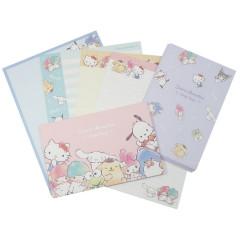 Japan Sanrio Letter Envelope Set - Sanrio Family / Watercolor