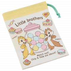 Japan Disney Drawstring Bag - Chip & Dale / Little Brothers