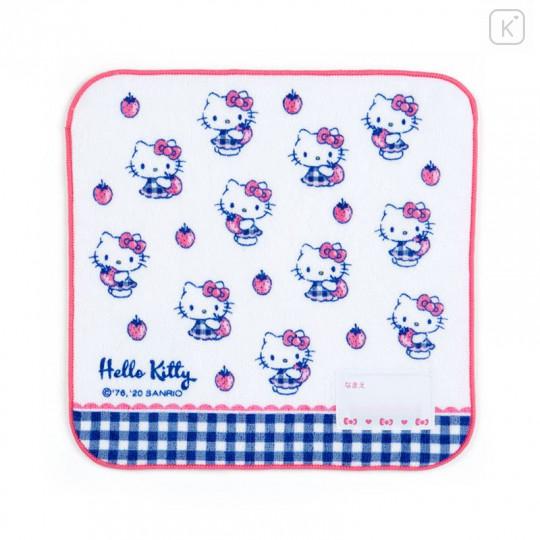 Japan Sanrio Handkerchief Petit Towel - Hello Kitty / Strawberry - 1