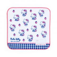 Japan Sanrio Handkerchief Petit Towel - Hello Kitty / Strawberry