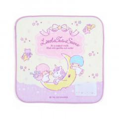 Japan Sanrio Handkerchief Petit Towel - Little Twin Stars / Ribbon