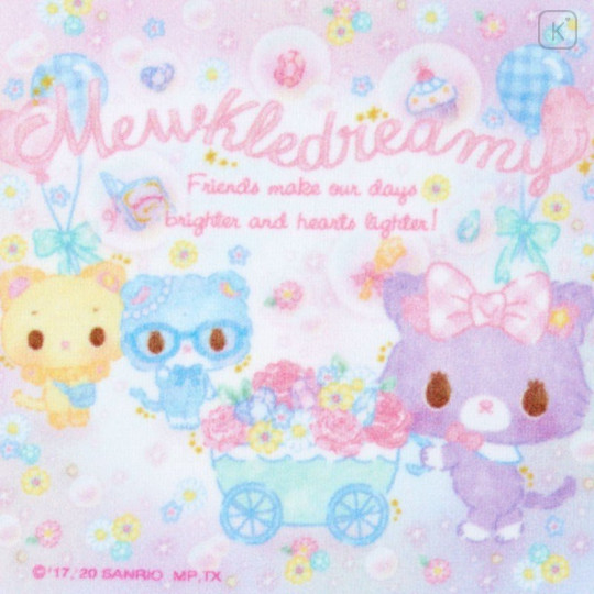 Japan Sanrio Handkerchief Petit Towel - Mewkledreamy / Party - 2