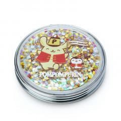 Japan Sanrio 2-sided Pocket Mirror - Pompompurin / 25th Anniversary