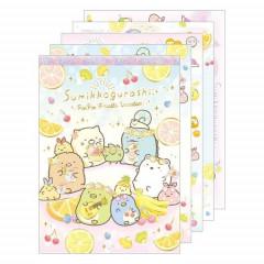 Japan San-X A6 Notepad - Sumikko Gurashi / Fruit Vacation A