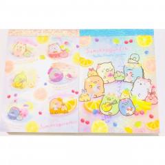 Japan San-X B8 Mini Notepad Set - Sumikko Gurashi / Fruit Vacation