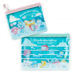 Japan Sanrio Flat Pouch Set - Ice Friends
