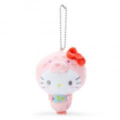 Japan Sanrio 2 Way Mascot Keychain Brooch - Hello Kitty / Seal