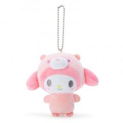 Japan Sanrio 2 Way Mascot Keychain Brooch - My Melody / Polar Bear