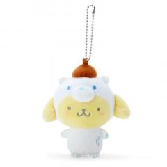 Japan Sanrio 2 Way Mascot Keychain Brooch - Pompompurin / Polar Bear
