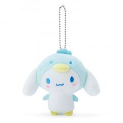 Japan Sanrio 2 Way Mascot Keychain Brooch - Cinnamoroll / Penguin
