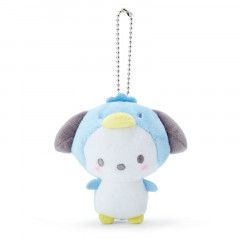 Japan Sanrio 2 Way Mascot Keychain Brooch - Pochacco / Penguin