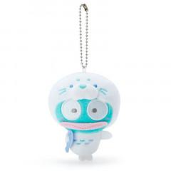 Japan Sanrio 2 Way Mascot Keychain Brooch - Hangyodon / Seal