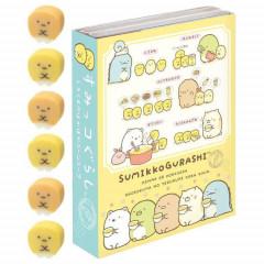 Japan San-X Memo & Mini Eraser Set - Sumikko Gurashi / Corn Soup B
