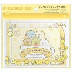 Japan San-X Small Letter Set with Zipper Pouch - Sumikko Gurashi / Corn Soup