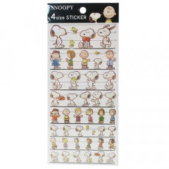 Japan Peanuts 4 Size Sticker - Snoopy & Friends