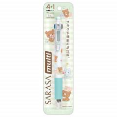 Japan San-X Sarasa Clip 4+1 Multi Pen & Pencil - Chairoikoguma Relax Bear