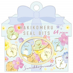 Japan San-X Writable Seal Bits Sticker - Sumikko Gurashi / Flower