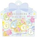 Japan San-X Writable Seal Bits Sticker - Sumikko Gurashi / Flower - 1