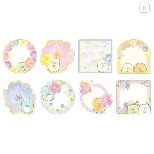 Japan San-X Writable Seal Bits Sticker - Sumikko Gurashi / Flower - 2