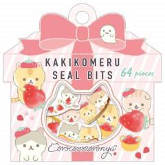 Japan San-X Writable Seal Bits Sticker - Corocoro Coronya / Strawberry