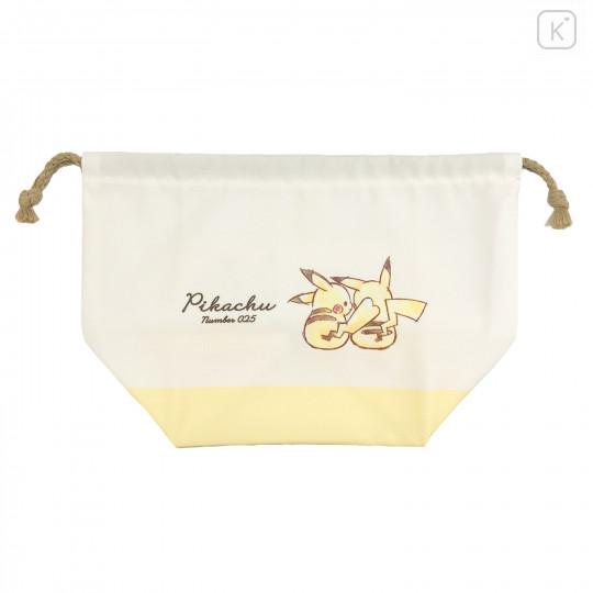 Japan Pokemon Drawstring Bag (L) - Pikachu / Simple - 1