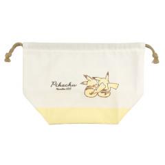Japan Pokemon Drawstring Bag (L) - Pikachu / Simple