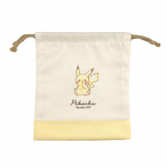 Japan Pokemon Drawstring Bag (S) - Pikachu / Simple