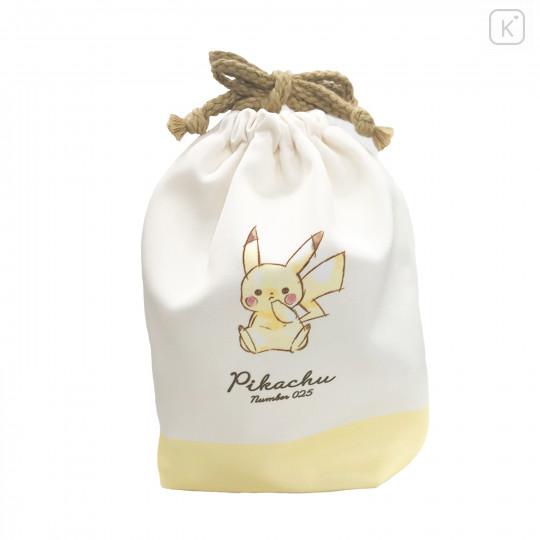 Japan Pokemon Drawstring Bag (S) - Pikachu / Simple - 3