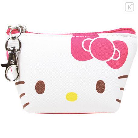 Japan Sanrio Triangular Mini Pouch - Hello Kitty - 1