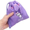 Japan Sanrio Drawstring Bag - Full Kuromi & Melody - 2