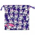 Japan Sanrio Drawstring Bag - Full Kuromi & Melody - 3