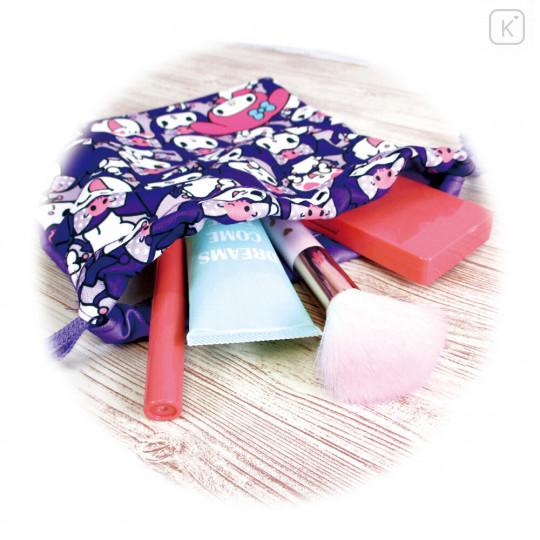Japan Sanrio Drawstring Bag - Full Kuromi & Melody - 5
