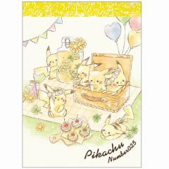 Japan Pokemon B8 Mini Notepad - Pikachu / Picnic