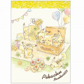 Japan Pokemon B8 Mini Notepad - Pikachu / Picnic - 1