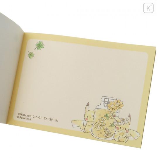 Japan Pokemon B8 Mini Notepad - Pikachu / Picnic - 3