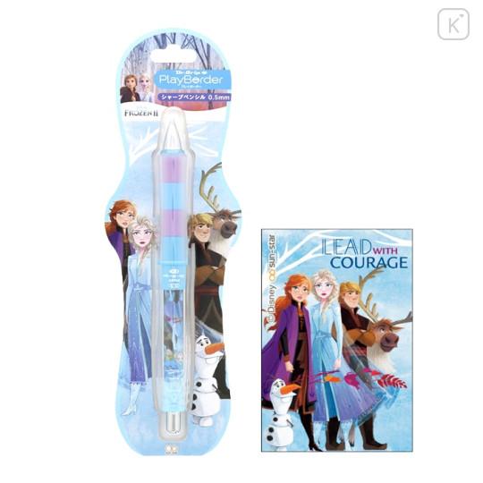Japan Disney Dr. Grip Play Border Shaker Mechanical Pencil - Frozen II - 1