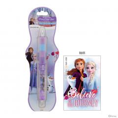 Japan Disney Dr. Grip Play Border Shaker Mechanical Pencil - Frozen Elsa & Anna & Olaf