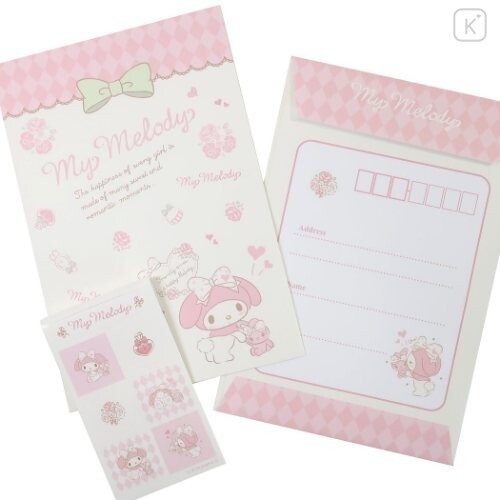 Japan Sanrio Letter Envelope Set - Melody & Stylish Logo - 3