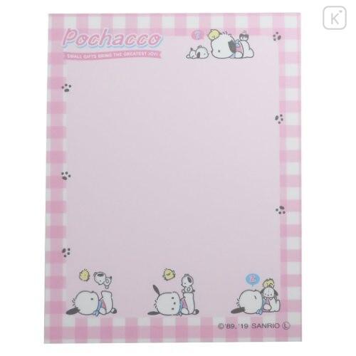 Japan Sanrio B8 Mini Notepad - Pochacco / Plaid - 3