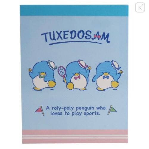 Japan Sanrio B8 Mini Notepad - Tuxedosam / Tennis - 1