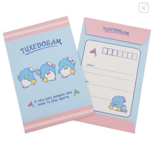 Japan Sanrio Letter Envelope Set - Tuxedosam / Tennis - 3