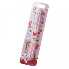 Japan Disney Sarasa Multi 4+1 Gel Pen & Mechanical Pencil - Marie / Cherry