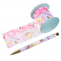 Japan Disney Ballpoint Pen Decoration Tape Stand - Dumbo & Timothy - 2