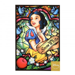 Japan Disney Postcard - Snow White / Stained Glass