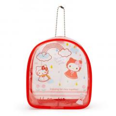 Japan Sanrio Keychain Cover Pouch - Hello Kitty / Happy Rainy Days