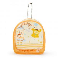 Japan Sanrio Keychain Cover Pouch - Pompompurin / Happy Rainy Days