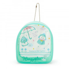Japan Sanrio Keychain Cover Pouch - Hangyodon / Happy Rainy Days