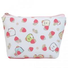 Japan San-X Triangular Pouch - Sumikko Gurashi / Strawberry